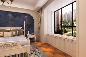 素雅田园风卧室背景墙装修效果图