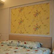 欧式简约田园风格卧室印花背景墙装饰