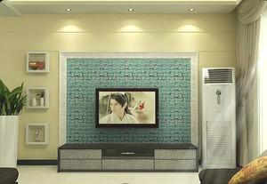 马赛克客厅电视背景墙装修效果图