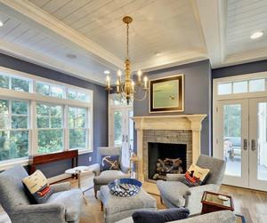 现代美式客厅吊顶