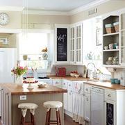 美式混搭风格厨房吧台装饰