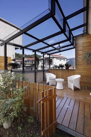 美式别墅顶楼露台阳光房装修设计效果图-齐装富兰克林别墅的图片