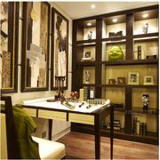 东南亚风格书房置物架装饰