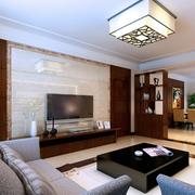 欧式简约风格客厅白色系吊顶装饰