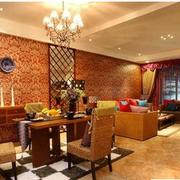 东南亚简约客厅吧台装饰