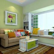 榻榻米客厅沙发小清新色