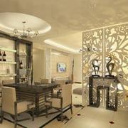 欧式风格浅色系客厅隔断装饰