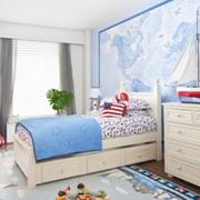 欧式简约风格儿童房床头柜装饰