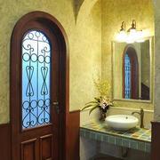 地中海风格卫生间拱形门装饰