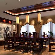 中式风格简约展厅装饰