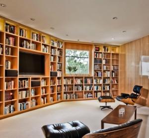 别墅欧式书房书柜装修效果图