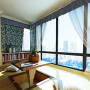 日式简约风格阳台榻榻米设计