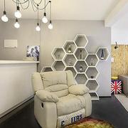 北欧风格清新创意客厅酒柜装饰
