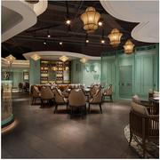 东南亚大型餐厅酒柜装饰