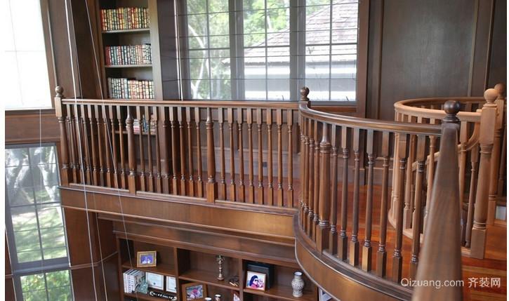中式阁楼楼梯装修效果图