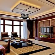 东南亚简约风格原木吊顶装饰