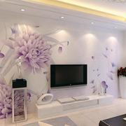 现代化印花电视墙装饰