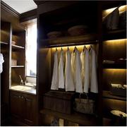 衣帽间简约风格开放式置物架装饰