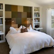 混搭风格卧室拼色床头背景墙装饰