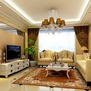 欧式奢华田园风格客厅装饰