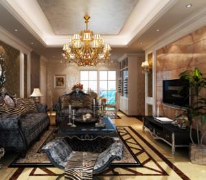 90平米全新欧式客厅装修效果图