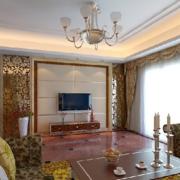 欧式风格别墅电视背景墙装饰