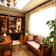 东南亚风格书房飘窗装饰