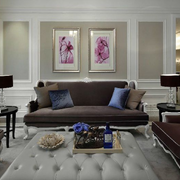 法式简约风格客厅背景墙装饰