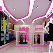 粉色系服装店衣架装饰