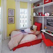 现代简约风格儿童房置物架装饰