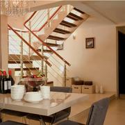 中式阁楼楼梯镂空型
