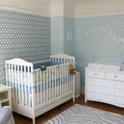 美式清新风格儿童房置物柜装饰