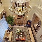 欧式奢华高挑客厅奢华灯饰装饰