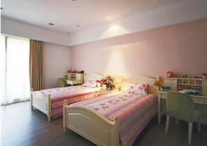 儿童房简约风格粉色系墙饰装饰