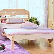 小型时尚实木床