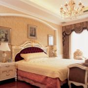 欧式简约风格卧室奢华灯饰装饰