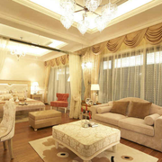 别墅客厅飘窗装饰