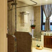 地中海风格简约卫生间瓷砖装饰