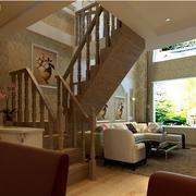 楼中楼简约风格客厅楼梯装饰