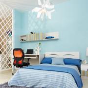 简约蓝色浅色卧室墙饰装饰装饰