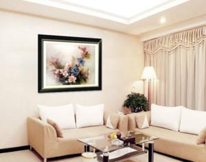 客厅家居装饰画十字绣装修效果图案大全