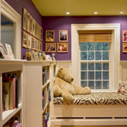 紫色浪漫儿童房墙面