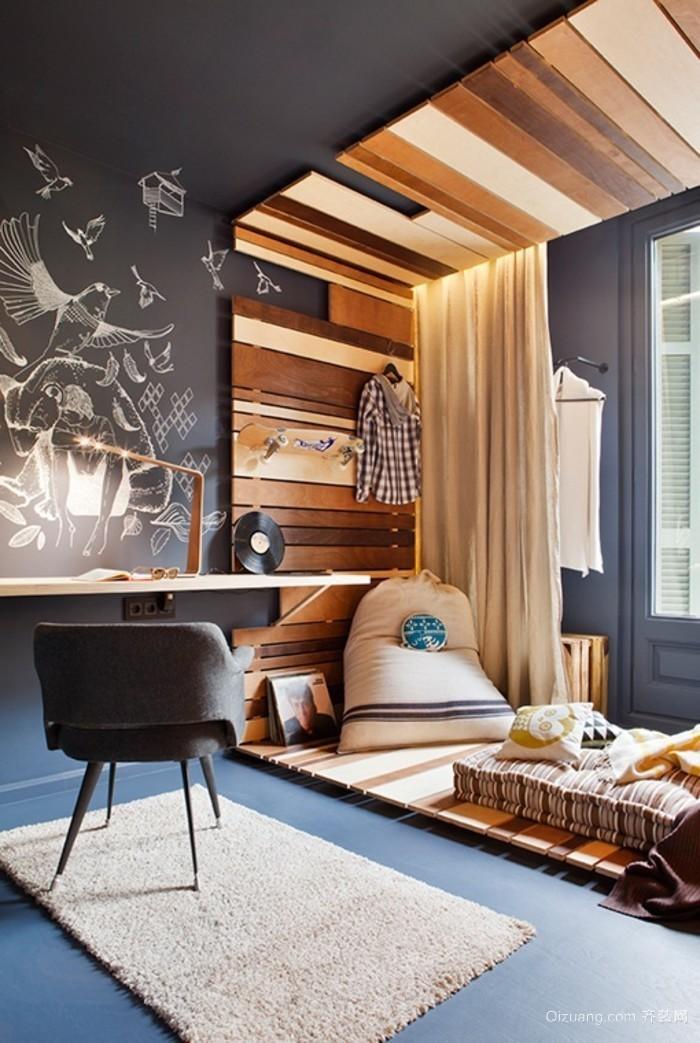 美式别墅 顶楼 露台阳光房装修设计效果图 齐装