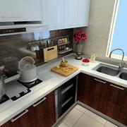 后现代风格L型厨房橱柜装饰