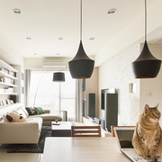 北欧风格清新客厅置物架装饰