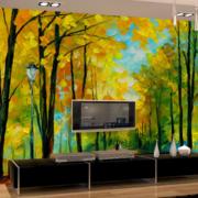 清新树林3D背景墙饰装饰
