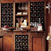 欧式风格开放式酒柜装饰