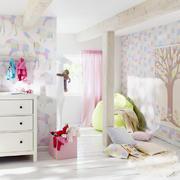 欧式田园风格儿童房壁纸装饰