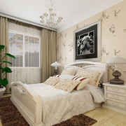 简约白色小户型卧室设计