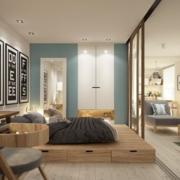 小户型原木卧室图例